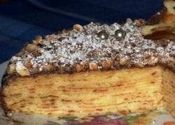 Торт Крепвиль - любимые блинчики в необычном исполнении