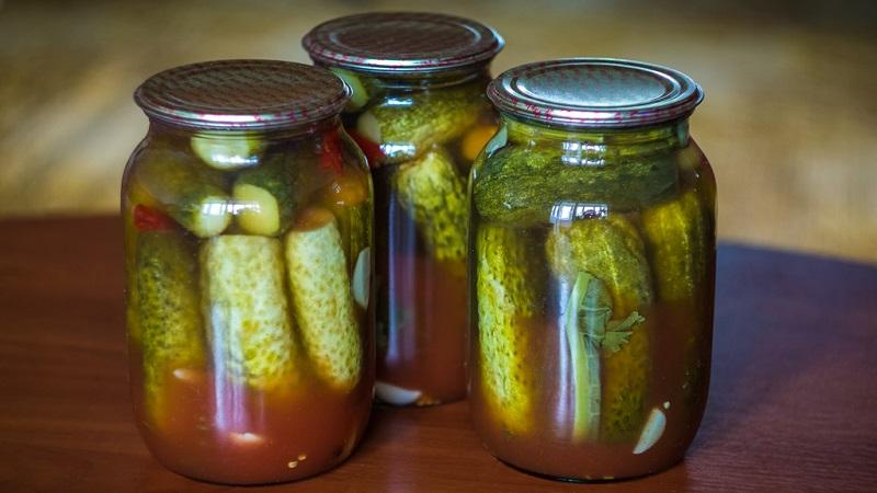 Консервируем огурцы с кетчупом чили на зиму в литровых банках
