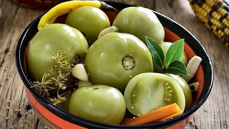 Самые вкусные рецепты маринованных зеленых помидоров