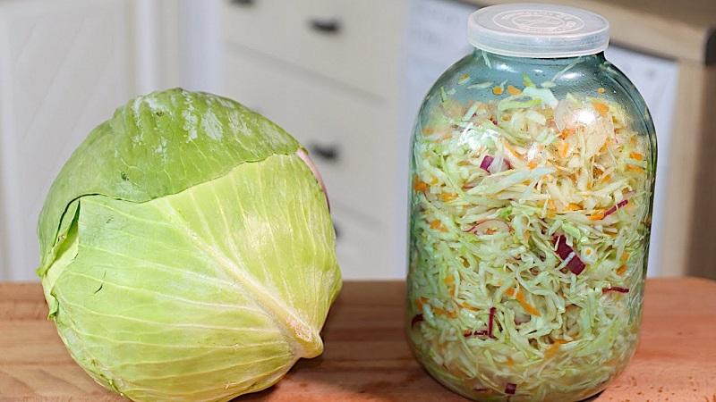 Вкусные заготовки на зиму: маринованная капуста без масла рецепт в различных вариациях