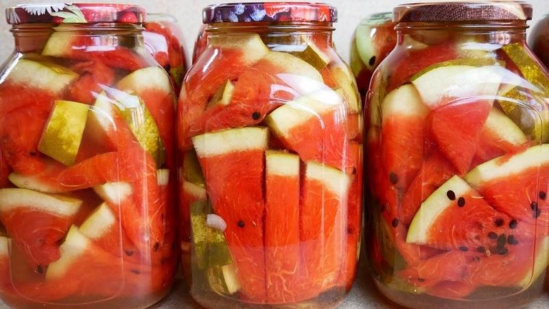 Вкусные заготовки: арбузы маринованные на зиму в 3 литровых банках (простой рецепт)