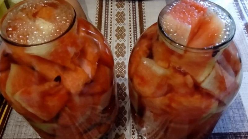 Как приготовить арбузы консервированные на зиму без стерилизации по лучшим рецептам