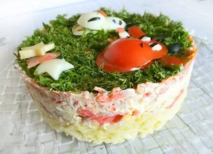 Красивые, простые и вкусные рецепты салатов в виде Быка на Новый 2021 Год