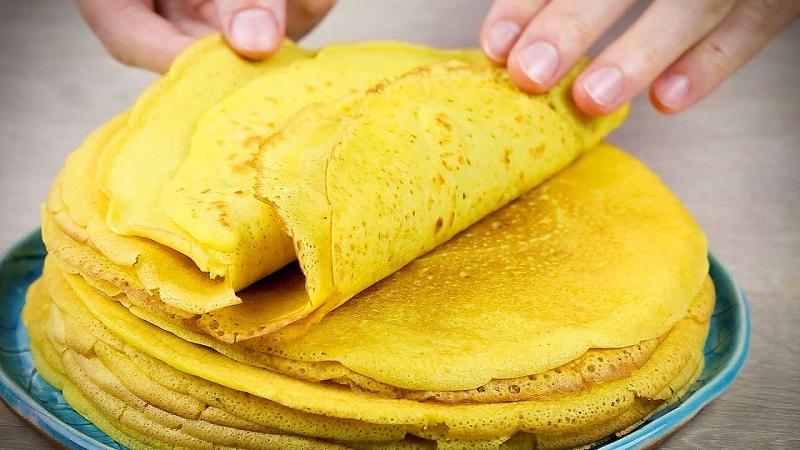 Как приготовить блины из кукурузной муки на молоке, воде, кефире