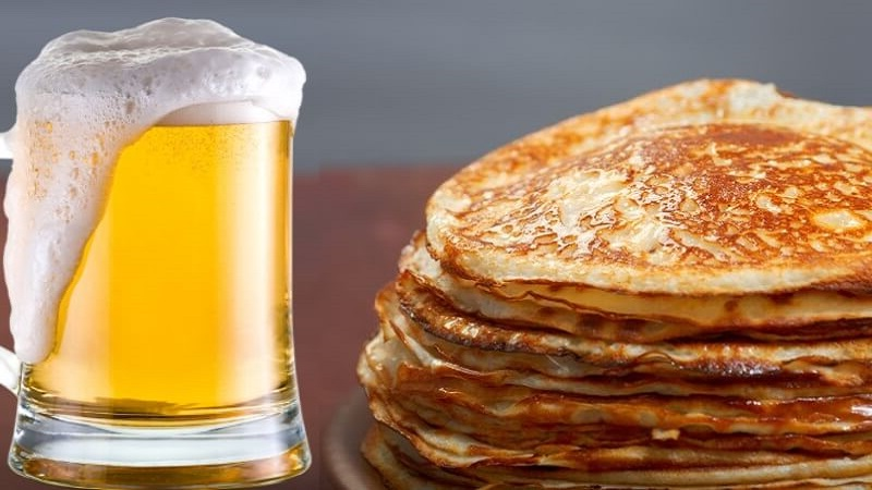 Любителям вкусных экспериментов: блины на пиве - нереально вкусные рецепты