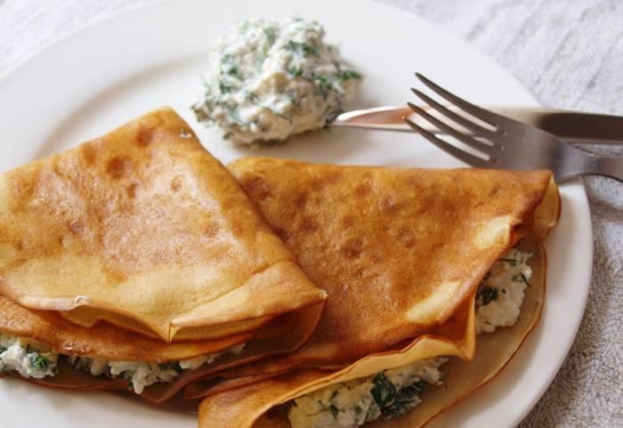 Самые вкусные блинчики с творогом: рецепты кулинарных шедевров